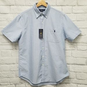 EUC Polo Ralph Lauren S/S Pocket Oxford Mens M B0A